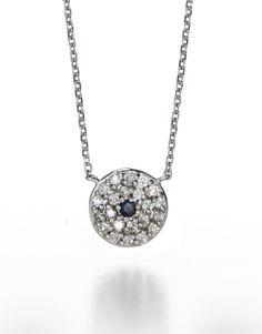 charm amp, sapphir evil, 14kt joli, eye necklac, charms, eye jewellri, chains, joli sapphir, evil eye