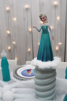 Cool Elsa decoration at a Frozen girl birthday party! See more party ideas at CatchMyParty.com! girls birthday parties, frozen parti, parti idea, frozen birthday, girl birthday party games, frozen party birthday