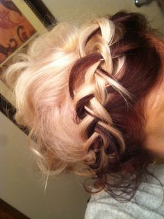 chelsea houska hairstyles, french braids, hair colors, red, color combos, blondes, makeup, beauti, tone hair