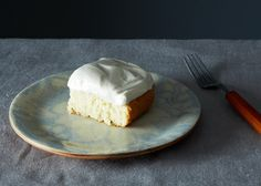 Grandma's White Cake with Maple Syrup Frosting, a recipe on Food52 frostings, foods, marshmallowi frost, syrup frost, maple syrup, white cakes, mapl syrup, marshmallows, mapl frost