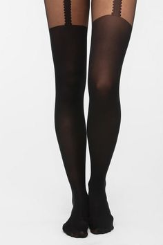 Gipsy Mock Zigzag-Garter Tight  #UrbanOutfitters