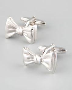 Perfect Masculine Feminine   Lanvin Bow-Tie Cuff Links