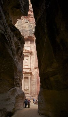 coming out of the darkness at Petra