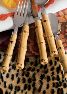 bamboo and leopard.....have