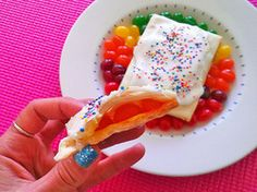 Nestle leftover jelly beans between sheets of pastry for a homemade spin on a favorite kid treat.