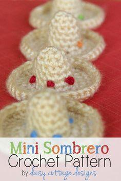 Mini Sombrero Crochet Pattern by Daisy Cottage Designs, via Flickr