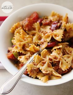 Chili Pasta Salad is a great lunch or dinner. Serve with a warm roll!