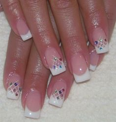 French+Nail+Art+Design+Gallery | French nails with net | Nail Art Gallery