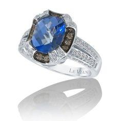 Le Vian Ocean Blue topaz chocolate diamonds