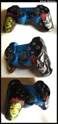 Harley Quinn and Poison Ivy - PS3 Controller by Edge-Works.