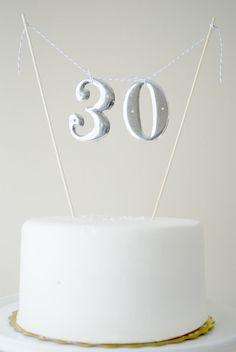 Vintage number cake topper!