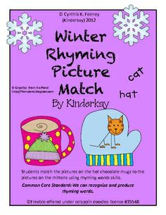 Winter Rhyming Picture Match - free!