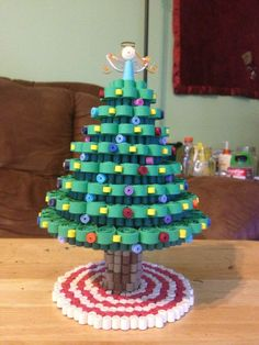 3D Quilled Christmas tree by DecorativeCraftsInMS on Etsy