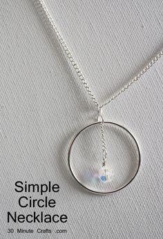 DIY Simple Circle Necklace