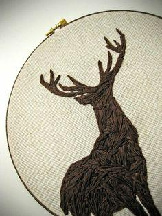 Deer #embroidery #love