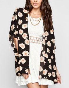 FULL TILT Daisy Print Womens Kimono 235355149 | Clothing | Tillys.com