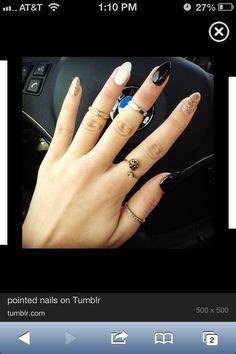 valentine pointy nails