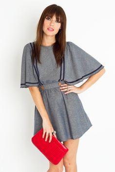 gretal cape dress / nasty gal