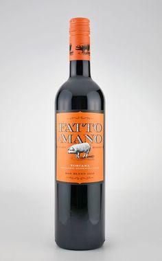 Fatto A Mano 2010 RedWine - The Dieline -