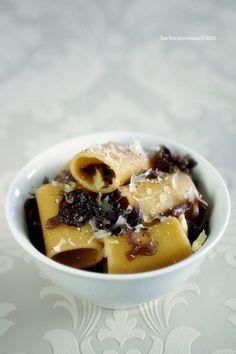 / Paccheri con Chioggiotto caramellato  Pasta with caramelized red radicchio