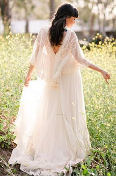 Bohemian Wedding Dresses...how much more like me could you get?