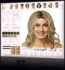 Try on hairstyles, colors, highlights, and makeup.