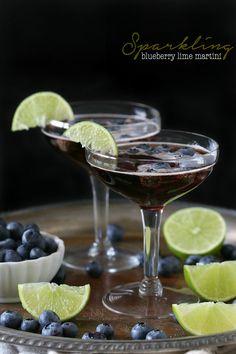 Sparkling Blueberry Lime Martini @nutmegnanny