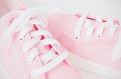 pink sneakers..
