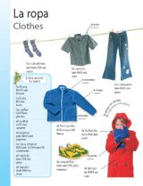 Clothes (La ropa) themed vocabulary -- Give students these vocabulary handouts to introduce Spanish words for clothing.    Get the printable from TeacherVision: http://www.teachervision.fen.com/spanish-language/printable/70406.html