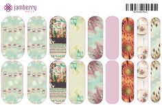 Vintage/ Chic nails created by the Jamberry Nails Nail Art Studio!!! :) ADORABLE! http://www.glamicure.jamberrynails.net
