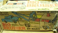 BIG BRUISER by MARX ! VINTAGE 1960'S TOY. TOW TRUCK, PICKUP TRUCK, BOX | eBay
