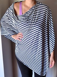 SHIPS FREE!! 4 Sizes Available! Nursing Shawl Nursing Cover Poncho Infinity Scarf Breastfeeding Cover Choose Black White Stripe Aztec