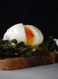 Swiss Chard & a Poached Egg on Toast