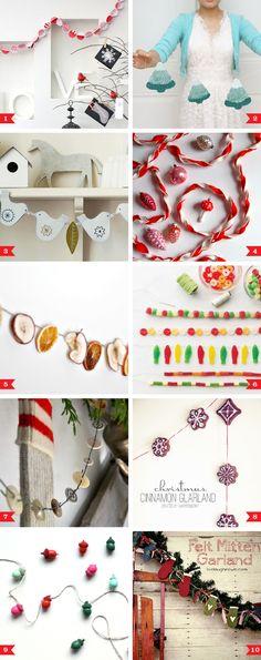 10 pretty DIY Christmas garlands. ☀CQ #christmas