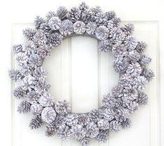 pinecone wreath-snowy
