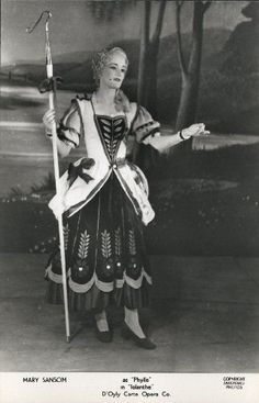 "Mary Sansom as Phyllis in ""Iolanthe"" 1938, D'Oyly Carte Opera Company."