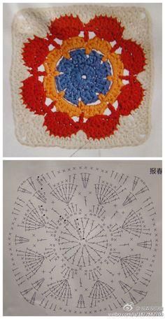 squares de crochet com gráficos - Pesquisa Google