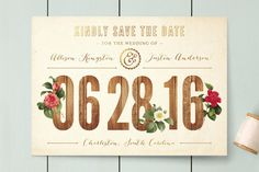 Derby Save the Date Cards by cadence paige design at minted.com