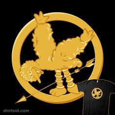 """The Muppets"" is still showing at Celebration! Woodland. ""The Hunger Games"" goes on sale on February 22. Show your support for both with this fashionable Muppetjay shirt!"