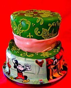 Mickey meets Alice cake by The Ladygloom, via Flickr