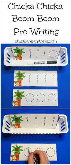 This week's free printable is Chicka Chicka Boom Boom Pre-Writing which is a great activity for beginning writing and fine motor skills. Available until Sunday September 22nd ... after that they will be available in the member's section of the site.