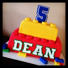 LEGO cake! by Cakes by Megan Scott, via Flickr