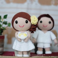 They met when on a vacation at beach resort. #weddingdolls #wedding #saplanetoriginals #crochet #handmade #amigurumi #decoration #gifts #beachwedding