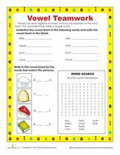 Worksheets: Vowel Teams