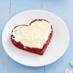 Red Velvet Brownies with Cream Cheese Frosting by kblast94