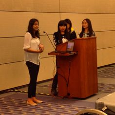 Teams beginning to start their presentations at the International Women's Hackathon in D.C!