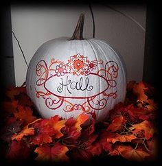 painted pumpkin fall decor