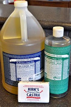 Dr. Bronner's Castile Soap - this organic soap can be used in a laundry detergent, dish soak, hand soap, body wash, and all purpose household cleaner. A little goes a very long way. Save money and the planet!