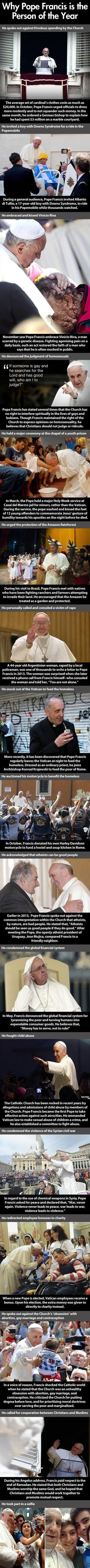 Pope Francis is a pretty cool guy.