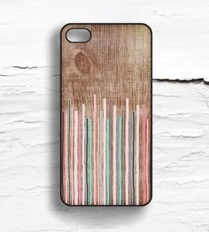 Stripes & Faux Wood iPhone Case by Hello Nutcase on Scoutmob Shoppe